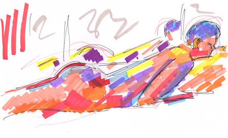 Life study - becky - marker pen - 30-03-11