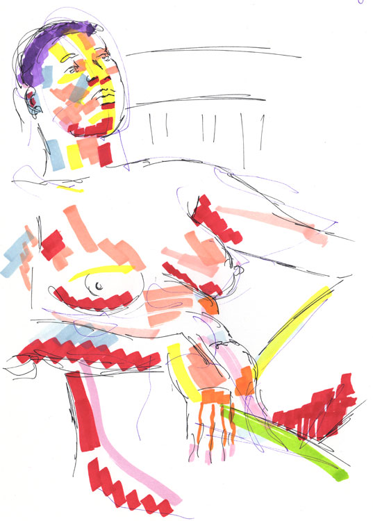 Life study - becky - marker pen - 30-03-8