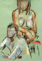 Life study - Jools and Peter - pastel