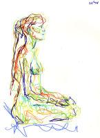 Life study - Priscila - Croydon Life Drawing Group - marker pen