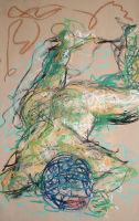 Life study - Roberta - Croydon Life Drawing Group - pastel