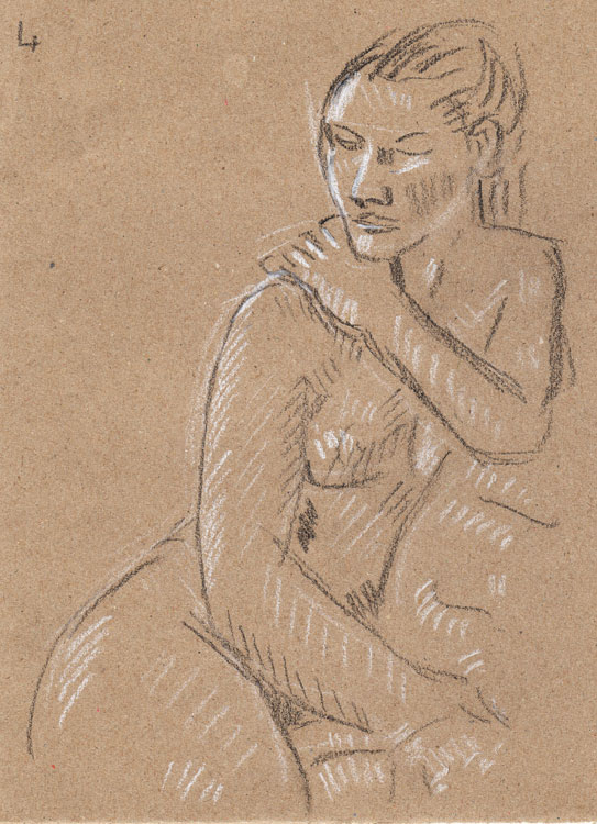Life study - sofia - carbon pencil and chalk 29-03 5