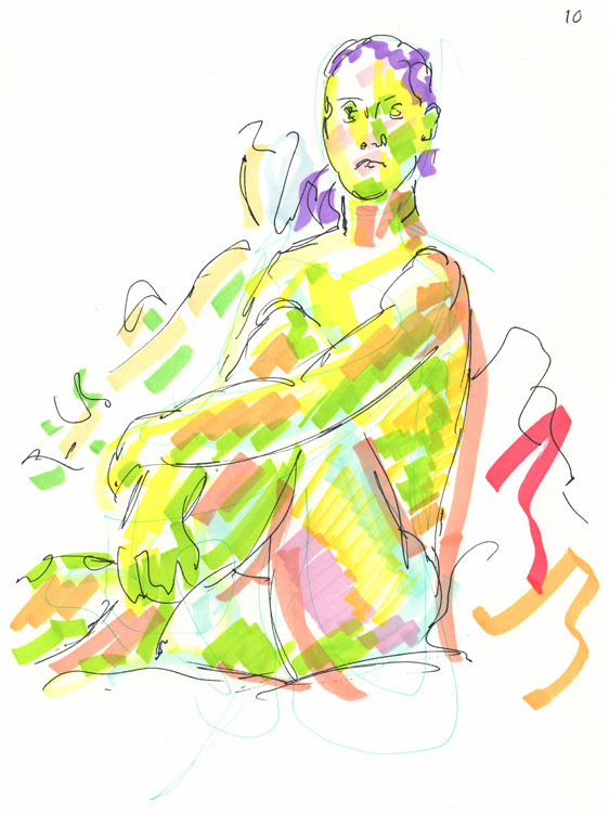 Life study - sofia - marker pen 29-03 11