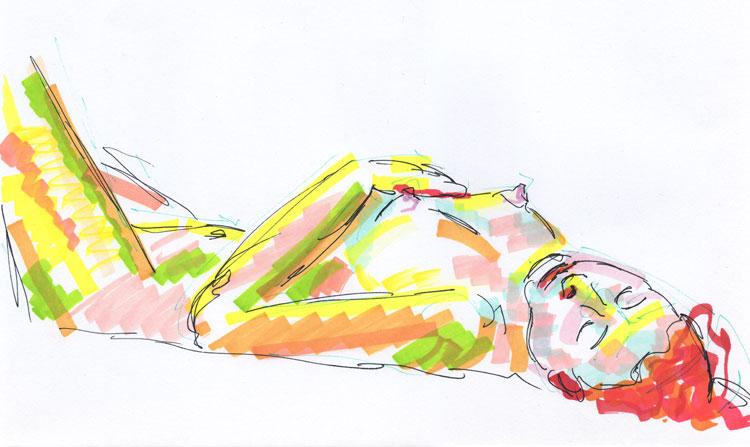 Life study - sofia - marker pen 29-03 12