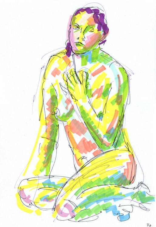 Life study - sofia - marker pen 29-03 15