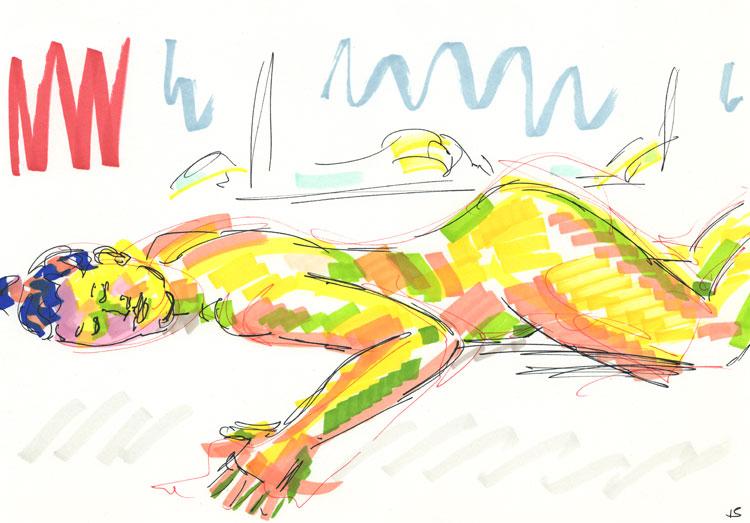 Life study - sofia - marker pen 29-03 16