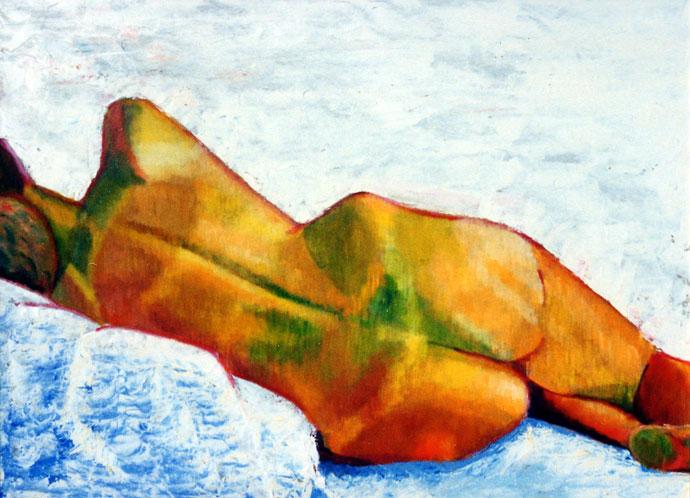 Life study - Croydon Life Drawing Group - oil painting