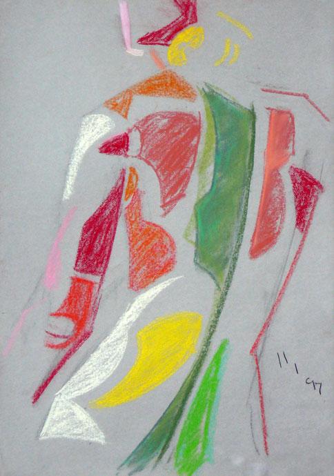 Life study - Croydon Life Drawing Group - pastel