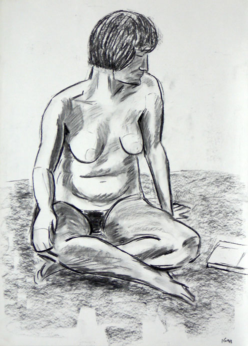 Life study - Croydon Life Drawing Group - charcoal
