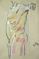 Life study - Croydon Life Drawing Group - pastel