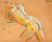 Life study - Eric - Croydon Life Drawing Group - pastel