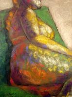Life study - Gabriella - Croydon Life Drawing Group - pastel