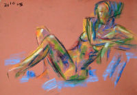 Life study - Jeanette - pastel