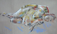 Life study - Margaret - Croydon Life Drawing Group - pastel
