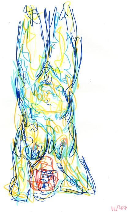 Life study - Paula - marker pen