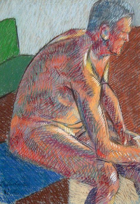 Life study - Stewart - Croydon Life Drawing Group - pastel