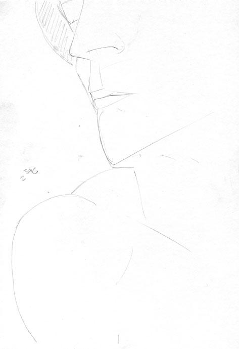 Portrait study - Croydon Life Drawing Group - pencil