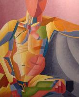 The runner - oil painting