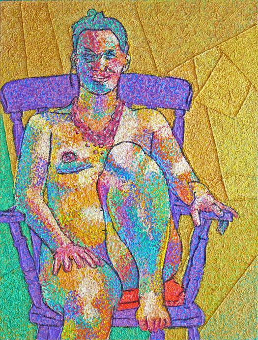 Life painting - Ursula - acrylic