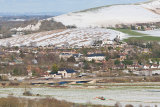 Adur Valley in Winter towards Beeding Hill, West Sussex