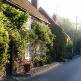 Early morning in Autumn, The Street, Bramber, West Sussex
