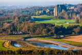 Autumn dawn, River Adur and Lancing College, West Sussex