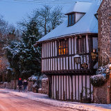 The Street, Bramber, West Sussex in snow 4