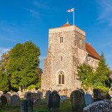 St Andrew's Church, Steyning, West Sussex in late summer light 2