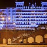 Grand Hotel, Brighton at night