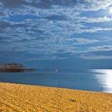 West pier in moonlight, Brighton