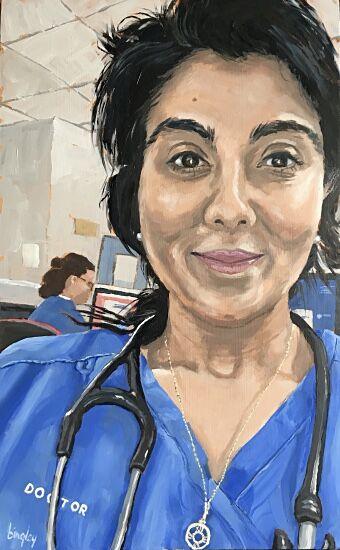 Portrait for NHS Heroes #1