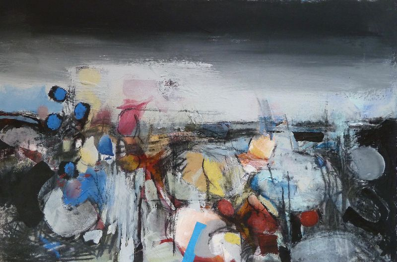 Ancient Land. Charcoal and acrylic on board 61 x 45cm