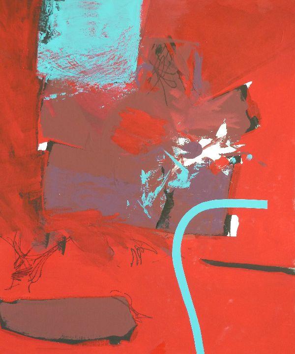 Blue Line. Acrylic on canvas 69.5 x 80cm
