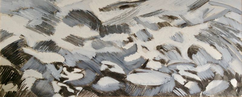 Church Ope Cove. Acrylic and charcoal on card 83 x 44cm