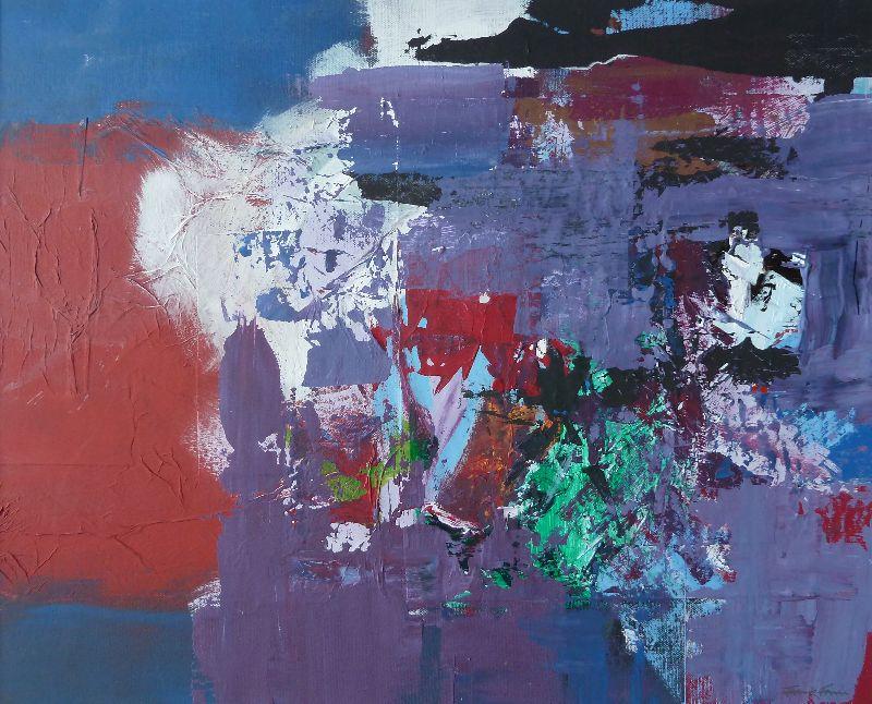 Hambledon. Acrylic on canvas 82 x 70cm