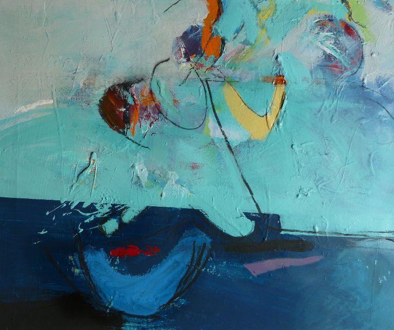 Harbour Wall. Acrylic on canvas 82 x 70cm