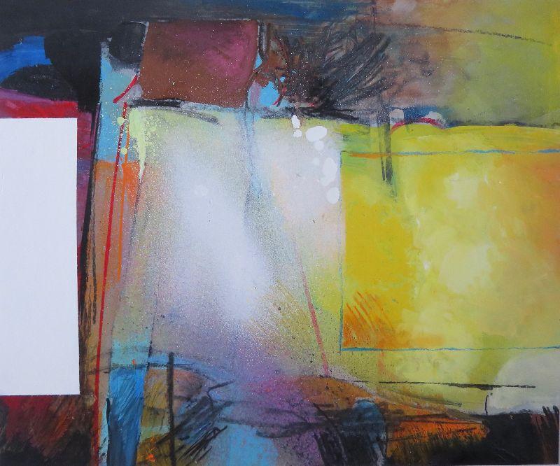 Harvest Field. Acrylic on board 83 x 70cm