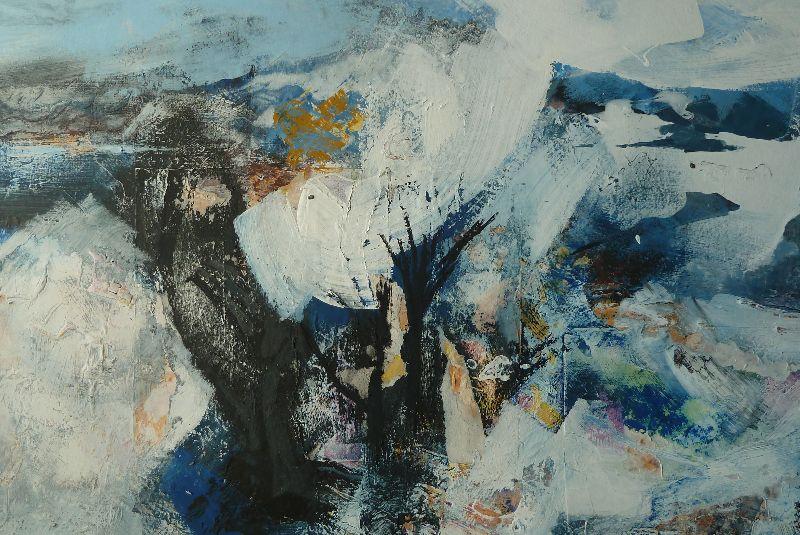 Kimmeridge. Acrylic on canvas 87.5 x 67cm