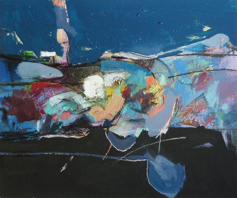 Off Shore Night. Acrylic on canvas 82 x 70cm