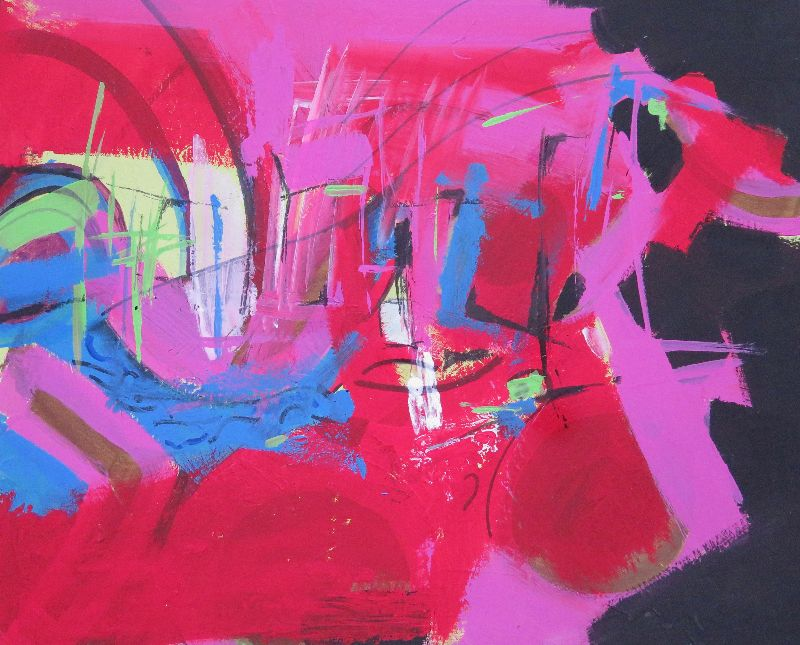 Pink. Acrylic on card 82 x 70 cm