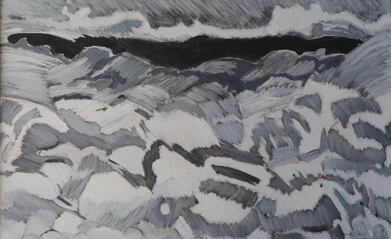 Portland. Acrylic and charcoal on card 75 x 56cm
