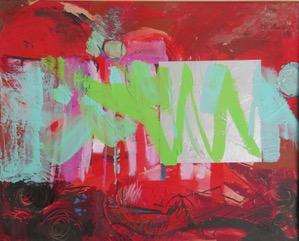 Summer Song. Acrylic on card 69 x 59 cm