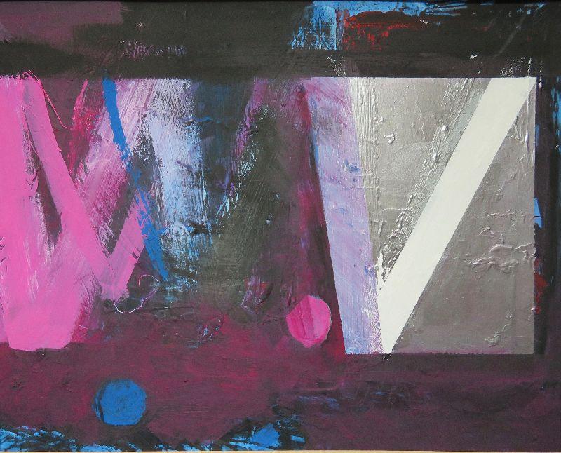 Through the Night. Acrylic on card 69 x 59cm