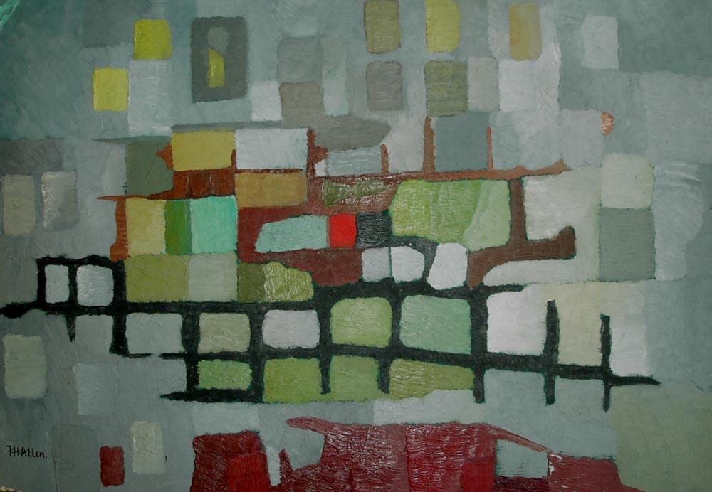 Wall from studio.  Oil on board 56x38cm