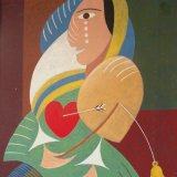 broken hearted.  acrylic on board 31x20cm