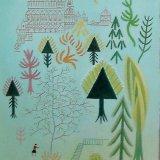 fairy castle.  tempera on canvas 48x26cm