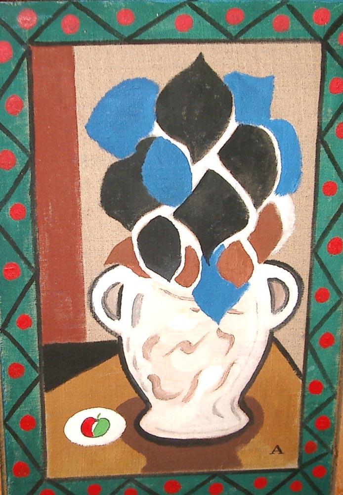 flower study2.  oil on canvas 34.5x23.5cm