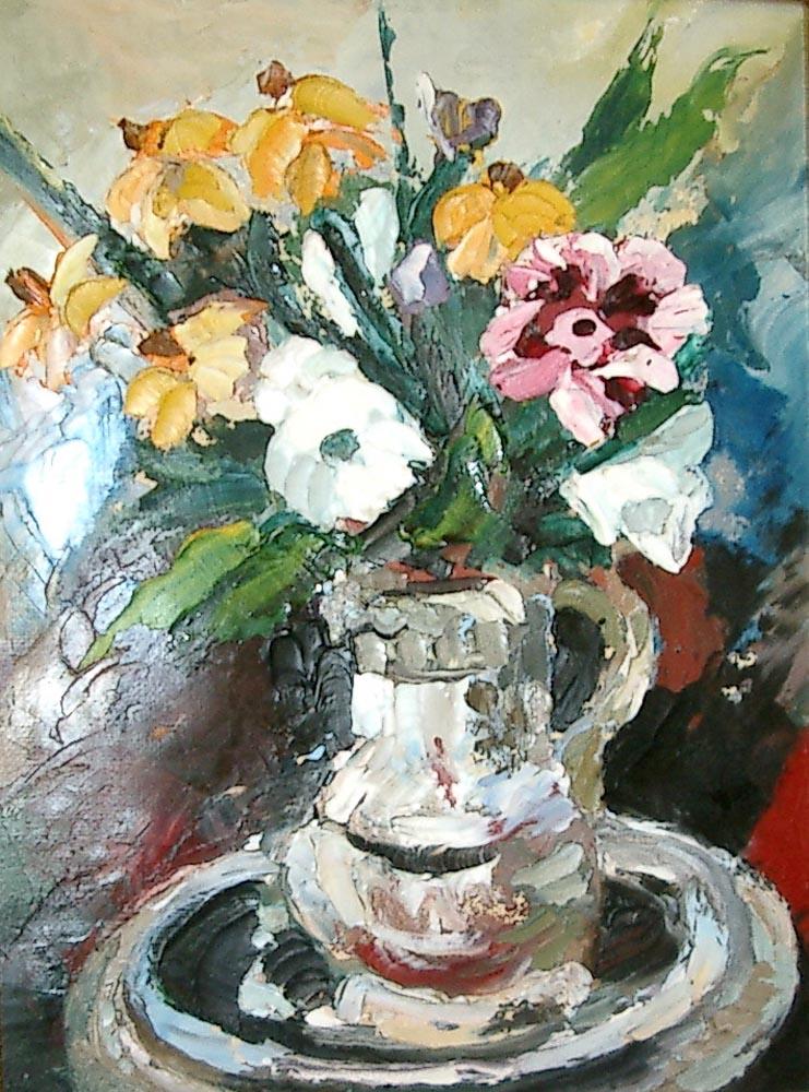flowers.  Oil-on-canvas-29x22cm