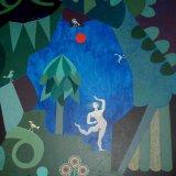 garden with dancer.  acrylic on board 55x45cm