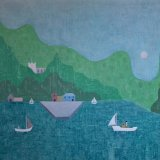 peaceful setting.  oil on canvas 48x63cm